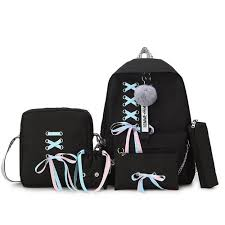 Fashion 5pcs/set <b>Canvas</b> School Backpack <b>Mochila</b> Feminina ...