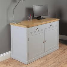 bedford grey painted oak furniture hideaway office pc bedford shaped office desk