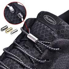 2019 <b>New</b> NO TIE Shoelaces <b>Elastic</b> Black <b>Round Shoe Laces</b> ...