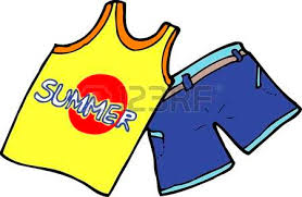 Image result for clipart of summer clothes