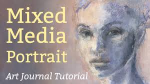 art journal tutorial mixed media portrait using acrylic paint and soft pastel who are you youtube acryclic painting soft