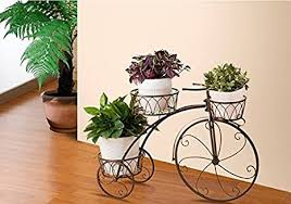 Buy Asian arts <b>Bicycle Plant Stand</b> Black/ Ivory Online at Low Prices ...