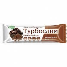 Турбослим батончик белковый шоколадный кекс <b>50г</b> купить по ...