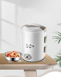 <b>Kbxstart</b> Portable 2L Electric Lunch Box 3 Layer Stainless Steel ...