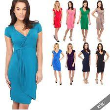 V-Neck Party Wrap Dresses | eBay