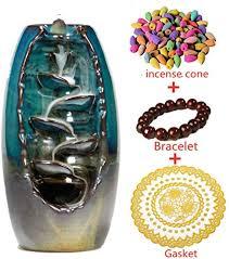 <b>Ceramic</b> Waterfall <b>Backflow Incense Burner</b> Incenser Holder Home ...