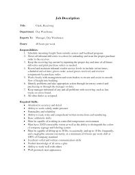 receiving clerk jobs paralegal resume objective examples tig 25 cover letter template for receiving manager job description clerical job description for resume image 25