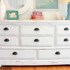 white chalky paint dresser makeover chalk painted furniture