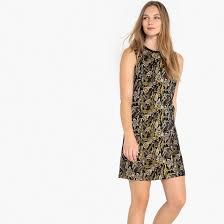 <b>Платье прямое</b> с жаккардовым рисунком без рукавов ...