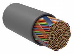 ITK Витая пара U/UTP кат.5E 10х2х24AWG solid PVC <b>серый</b> (305м)