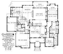 Waterford Hall House Plan   Classic Revival Planswaterford hall house plan   st floor plan