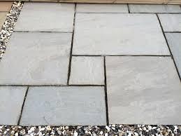 mason silver grey natural stone paving