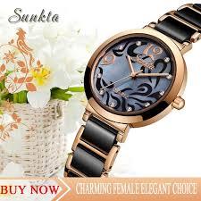 <b>SUNKTA</b> Diamond Quartz <b>Women Watches</b> Top Luxury Brand ...