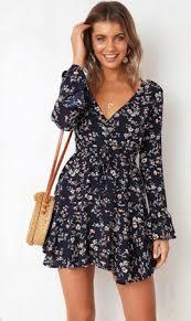 <b>Hirigin Summer</b> Boho Deep V dress Women Fashion <b>Print</b> Loose ...