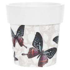 <b>Кашпо</b> «<b>Бабочки</b>» 2.5 л, 200 мм, <b>Тубус</b> Деко в Санкт-Петербурге ...