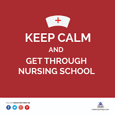 keep calm and get through nursing school