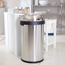 kitchen garbage walmart canada kitchen simplehuman cw bullet open  gallon trash can brushed kitchen g