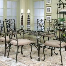 interior glass top dining tables set