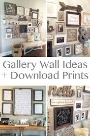 wall decor ideas home gallery  ideas about rustic gallery wall on pinterest farmhouse style farmhous