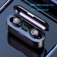 V5.0 <b>F9 TWS</b> Wireless Bluetooth Headphone LED Display With ...