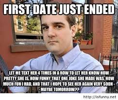 Funny first date meme | Pintast via Relatably.com