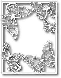 Memory <b>Box</b> Die - Drifting Butterfly Frame (MB-99343) - The Rubber ...