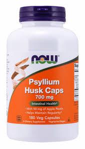 NOW Supplements, <b>Psyllium Husk Caps 700</b> mg with 50 mg of ...