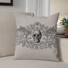 The Holiday Aisle <b>Gothic Square Pillow</b> Cover | <b>Halloween pillows</b> ...
