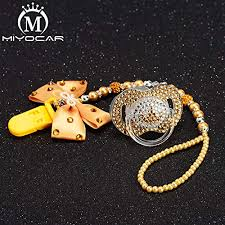 MIYOCAR bow bling rhinestone princess pacifier clip ... - Amazon.com