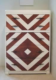 chevron painted art deco dresser vintage modern chevron painted furniture