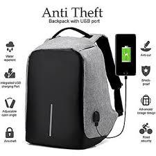 Buy Anti Theft Backpack <b>USB Charging</b> Port <b>15 Inch</b> Laptop Bag ...