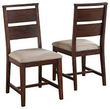 transitional dining chair sch: portland solid wood dining chair set of  transitional