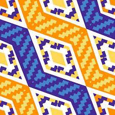 <b>Yellow</b> And Blue Diagonal <b>African Geometric Pattern</b>. Abstract ...
