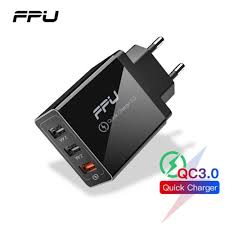 <b>FPU</b> 3 Port USB Charger <b>30W Quick Charge</b> 3.0 2.0 Mobile Phone ...