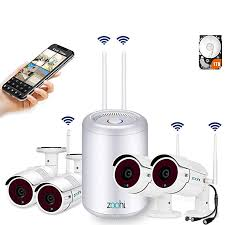 (2019 Newest) <b>Security Camera System Wireless</b>,Full HD 4CH ...