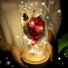2019 <b>LED Flashing Luminous</b> Artificial Rose <b>Flower Floral</b> ...