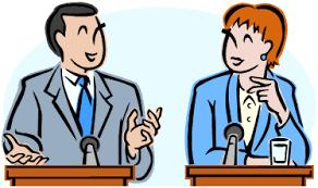 Resultado de imagem para imagem de um debate