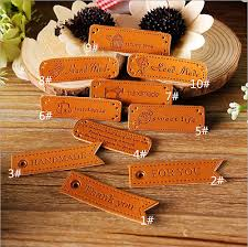 <b>10pcs PU</b> Leather Labels patch craft Flowers bag girl candy pattern ...