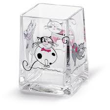 <b>Tatkraft Acryl</b> Funny Cats <b>Стакан</b> для ванной комнаты из прочного ...