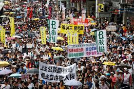 Image result for مردم هنگکنگ در تظاهراتی سیاست واشنگتن علیه چین را محکوم کردند