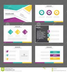 purple yellow presentation template annual report brochure flyer purple yellow presentation template annual report brochure flyer elements icon flat design set for advertising marketing