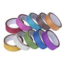Kemilove <b>10PCS Glitter Washi</b> Sticky Paper <b>Masking</b> Adhesive <b>Tape</b> ...