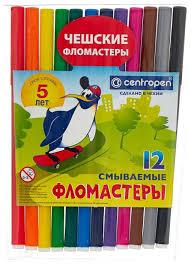 "<b>Centropen Набор фломастеров</b> ""<b>Пингвины</b>"", 12 шт. (7790/12 ..."