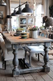 dining table interior design kitchen: beautiful dining table made from salvaged wood and turned legs via koektrommel