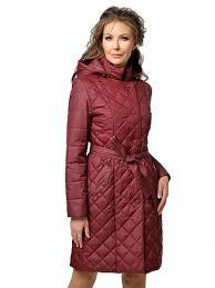 Классическое стеганое <b>пальто утепленное</b>, цвет красный ...