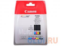 Картридж <b>Canon CLI</b>-<b>451</b> BK/C/M/Y для MG6340, MG5440, IP7240 ...
