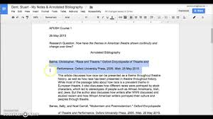 mla articles format bibliography annotated for