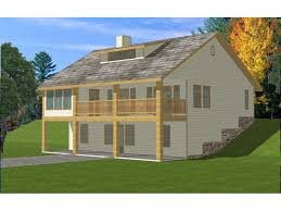 Isabella Country Home Plan D    House Plans and MoreTwo Story Country House Ideal For Sloping Lot