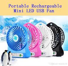 <b>Portable MINI USB Rechargeable</b> LED Light Fan Air Cooler <b>Mini</b> ...