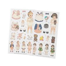 <b>1pack</b>/<b>lot</b> Kawaii <b>Cartoon</b> Doll Sticker For Kid DIY Product ...